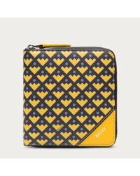 Bally Yellow Bri Women ́s Zip Wallet In Sunflower
