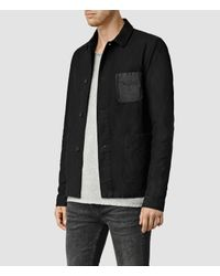 AllSaints - Black Bassett Jacket for Men - Lyst