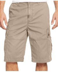 LRG White Big And Tall Rc Cargo Shorts for men