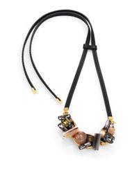 Marni | Multicolor Multi-stone Cluster Necklace | Lyst