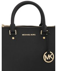 MICHAEL Michael Kors   Black Medium Sutton Saffiano Leather Bag   Lyst