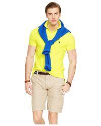 Polo Ralph Lauren Yellow Custom-fit Neon Mesh Polo Shirt for men