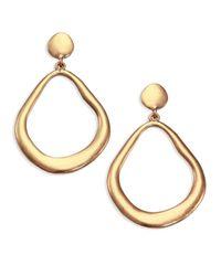 ABS By Allen Schwartz | Metallic Sunset Blvd Doorknocker Earrings | Lyst