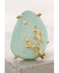 Indulgems   Blue Ivied Looking Glass Ring   Lyst