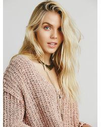 Free People - Natural Womens Dreamweaver Pullover - Lyst