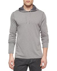 John Varvatos | Gray Space-dyed Pullover Hoodie for Men | Lyst