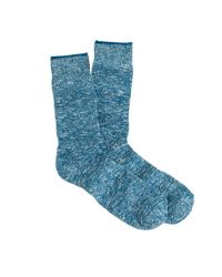 J.Crew - Blue Marled Cotton Socks for Men - Lyst