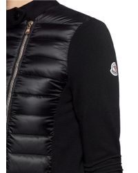 Moncler Black 'maglia Tricot' Down Front Cardigan