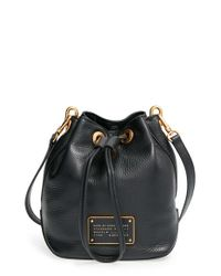 Marc By Marc Jacobs | Gray 'new Too Hot To Handle' Leather Bucket Bag | Lyst
