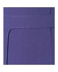Tamara Mellon - Blue Stretch Crêpe Skirt - Lyst