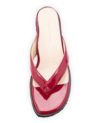Taryn Rose - Purple Tara Patent Thong Sandal - Lyst