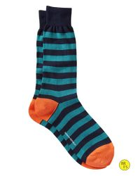 Banana Republic - Blue Factory Wide Stripe Sock River Teal for Men - Lyst