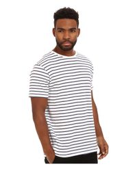 Akomplice | White Hook Scoop Tee for Men | Lyst