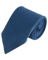 Alexander Olch Blue Brushed Neck Tie for men