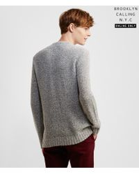 Brooklyn Calling | Gray Bouclé Sweater | Lyst