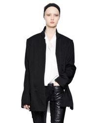 Haider Ackermann Black Wool Blend Twill Jacket