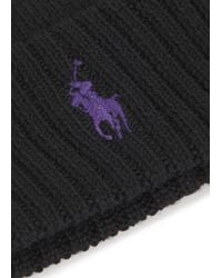 Polo Ralph Lauren | Black Cashmere & Wool Knit Beanie for Men | Lyst
