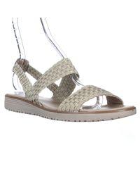 Easy Spirit Metallic Talini Flat Strapped Woven Slingback Sandals