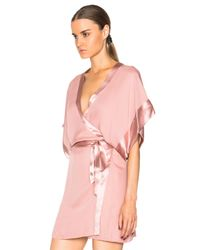 Fleur du Mal - Pink Georgette Kimono - Lyst