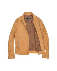 FORZIERI | Men's Brown Soft Leather Motorcyle Jacket for Men | Lyst