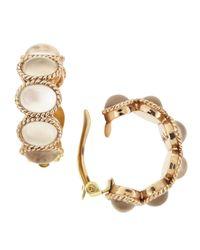 Stephen Dweck | Metallic Mother-of-pearl Crystal Hoop Earrings | Lyst