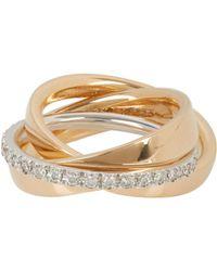 Roberto Marroni | Metallic Diamond & Gold Triple Ring | Lyst