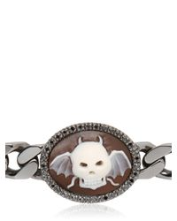 Amedeo | Metallic Sardonyx Winged Skull Cameo Bracelet for Men | Lyst