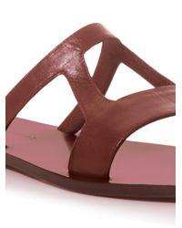 Zeus+Dione Purple Hephaestus Leather Sandals