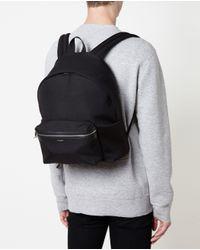 Saint Laurent   Black Classic Canvas Backpack for Men   Lyst