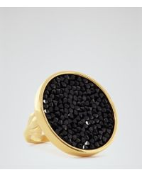 Reiss - Metallic Xenia Ring With Crystals From Swarovski - Lyst