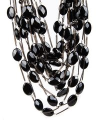 Rosantica By Michela Panero Black Sacramento Onyx Necklace