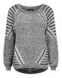 Dex | Gray Multi Stitch Sweater | Lyst