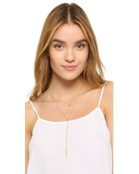 Chan Luu - Metallic Double Layered Lariat Necklace - Lyst