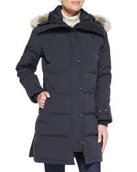 Canada Goose | Gray Shelburne Parka With Fur Hood | Lyst