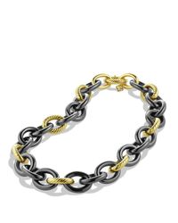 David Yurman - Metallic Oval Extra Large Link Necklace in Gold - Lyst