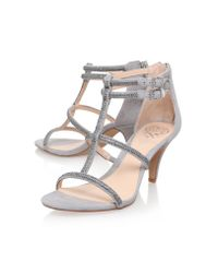 Vince Camuto Gray Malla High Heel Sandals