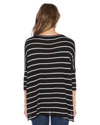 Chaser | Black Stripe Thermal Boxy Tee | Lyst