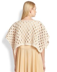 The Row | Ania Knit Poncho | Lyst