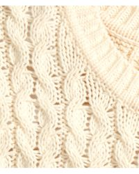 H&M Natural Cable-Knit Jumper
