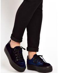 ASOS | Blue Dino Flatform Sneakers | Lyst