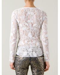 Isabel Marant White Floral Lace Blouse
