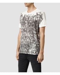 AllSaints | White Butterfly Crew T-shirt for Men | Lyst