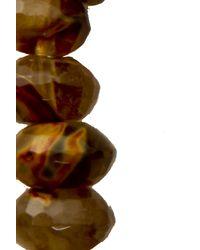 Duchess Of Malfi - Brown Watermelon Tourmaline Skull Bracelet - Lyst