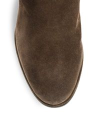 Stuart Weitzman - Natural Sidetrack Suede Wedge Ankle Boots - Lyst