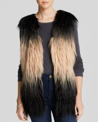 Blank Brown Vest Faux Fur Shaggy