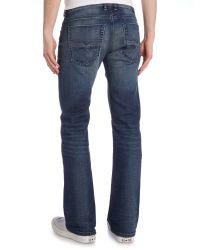 DIESEL | Blue Zathan 8qk Boot-cut Jeans | Lyst