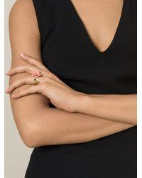 Fendi | Metallic 'Blossom' Ring | Lyst