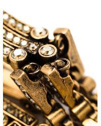 Oscar de la Renta Metallic Waterfall Clip-on Earrings
