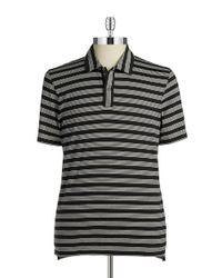 Michael Kors - Black Striped Polo for Men - Lyst