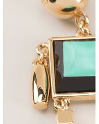 Marc By Marc Jacobs Green Robot Earrings